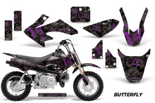 Load image into Gallery viewer, Dirt Bike Graphics Kit Decal Wrap For Honda CRF50 CRF 50 2014-2018 BUTTERFLIES PURPLE BLACK-atv motorcycle utv parts accessories gear helmets jackets gloves pantsAll Terrain Depot