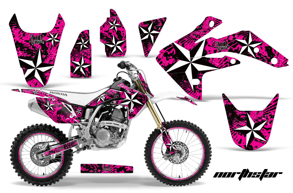 Graphics Kit Decal Sticker Wrap + # Plates For Honda CRF150R 2007-2016 NORTHSTAR PINK-atv motorcycle utv parts accessories gear helmets jackets gloves pantsAll Terrain Depot