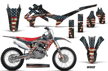 Dirt Bike Graphics Kit Decal Sticker Wrap For Honda CRF250R 2014-2017 WW2 BOMBER