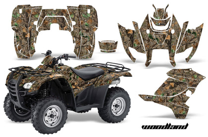 ATV Graphics Kit Decal Sticker Wrap For Honda Rancher AT 2007-2013 WOODLAND CAMO-atv motorcycle utv parts accessories gear helmets jackets gloves pantsAll Terrain Depot