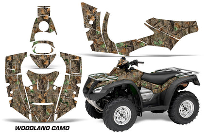 ATV Decal Graphics Kit Quad Wrap For Honda FourTrax Rincon 2006-2018 WOODLAND CAMO