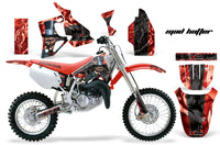 Dirt Bike Graphics Kit MX Decal Wrap For Honda CR80 CR 80 1996-2002 HATTER BLACK RED
