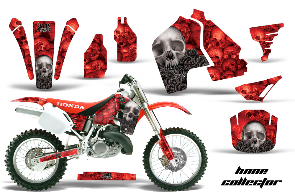 Dirt Bike Graphics Kit MX Decal Wrap For Honda CR500 CR 500 1989-2001 BONES RED-atv motorcycle utv parts accessories gear helmets jackets gloves pantsAll Terrain Depot