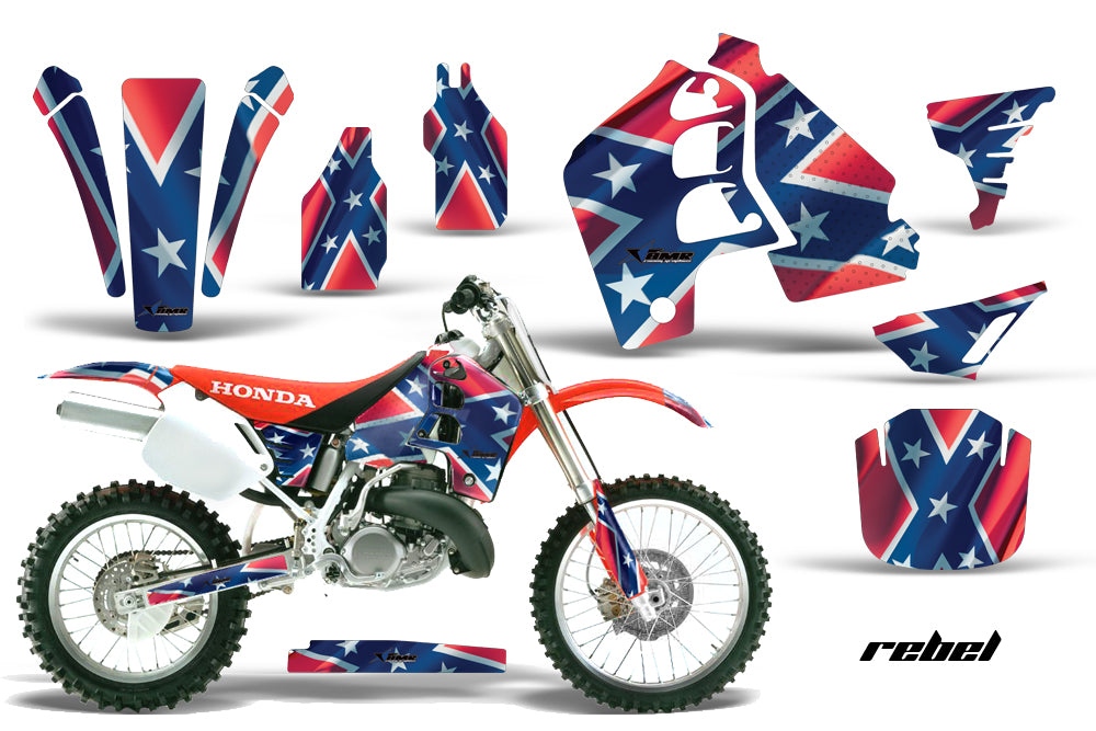 Dirt Bike Graphics Kit MX Decal Wrap For Honda CR500 CR 500 1989-2001 REBEL-atv motorcycle utv parts accessories gear helmets jackets gloves pantsAll Terrain Depot