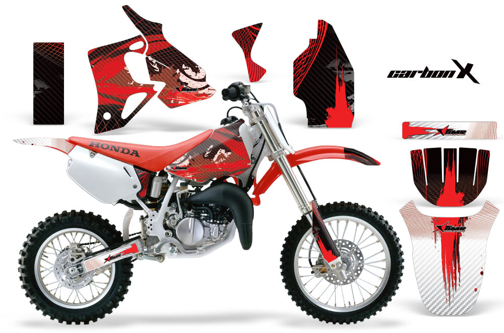 Dirt Bike Graphics Kit MX Decal Wrap For Honda CR80 CR 80 1996-2002 CARBONX RED-atv motorcycle utv parts accessories gear helmets jackets gloves pantsAll Terrain Depot