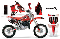 Graphics Kit MX Decal Wrap + # Plates For Honda CR80 CR 80 1996-2002 CARBONX RED