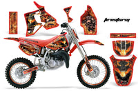 Graphics Kit MX Decal Wrap + # Plates For Honda CR80 CR 80 1996-2002 FIRESTORM RED