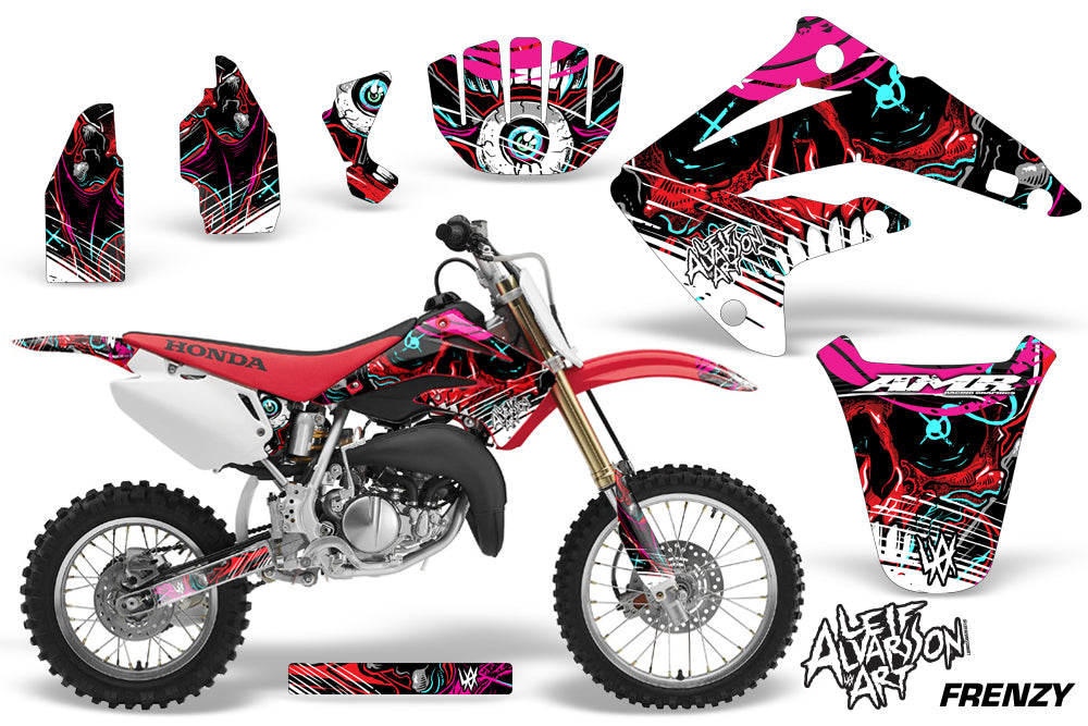 Dirt Bike Graphics Kit MX Decal Wrap For Honda CR85 CR 85 2003-2007 FRENZY RED-atv motorcycle utv parts accessories gear helmets jackets gloves pantsAll Terrain Depot