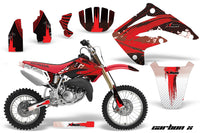 Dirt Bike Graphics Kit MX Decal Wrap For Honda CR85 CR 85 2003-2007 CARBONX RED