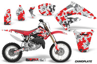 Dirt Bike Graphics Kit MX Decal Wrap For Honda CR85 CR 85 2003-2007 CAMOPLATE RED
