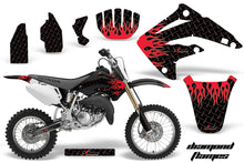 Load image into Gallery viewer, Dirt Bike Graphics Kit MX Decal Wrap For Honda CR85 CR 85 2003-2007 DIAMOND FLAMES RED BLACK-atv motorcycle utv parts accessories gear helmets jackets gloves pantsAll Terrain Depot