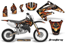 Load image into Gallery viewer, Dirt Bike Graphics Kit MX Decal Wrap For Honda CR85 CR 85 2003-2007 FIRESTORM BLACK-atv motorcycle utv parts accessories gear helmets jackets gloves pantsAll Terrain Depot