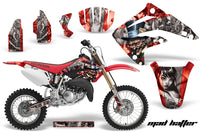 Dirt Bike Graphics Kit MX Decal Wrap For Honda CR85 CR 85 2003-2007 HATTER SILVER RED