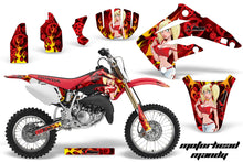 Load image into Gallery viewer, Dirt Bike Graphics Kit MX Decal Wrap For Honda CR85 CR 85 2003-2007 MOTO MANDY RED-atv motorcycle utv parts accessories gear helmets jackets gloves pantsAll Terrain Depot