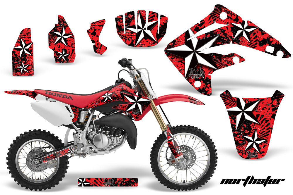 Dirt Bike Graphics Kit MX Decal Wrap For Honda CR85 CR 85 2003-2007 NORTHSTAR RED-atv motorcycle utv parts accessories gear helmets jackets gloves pantsAll Terrain Depot