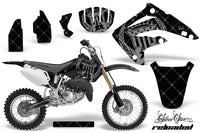 Dirt Bike Graphics Kit MX Decal Wrap For Honda CR85 CR 85 2003-2007 RELOADED SILVER BLACK