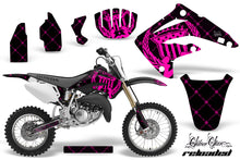 Load image into Gallery viewer, Dirt Bike Graphics Kit MX Decal Wrap For Honda CR85 CR 85 2003-2007 RELOADED PINK BLACK-atv motorcycle utv parts accessories gear helmets jackets gloves pantsAll Terrain Depot