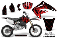 Dirt Bike Graphics Kit MX Decal Wrap For Honda CR85 CR 85 2003-2007 RELOADED RED BLACK