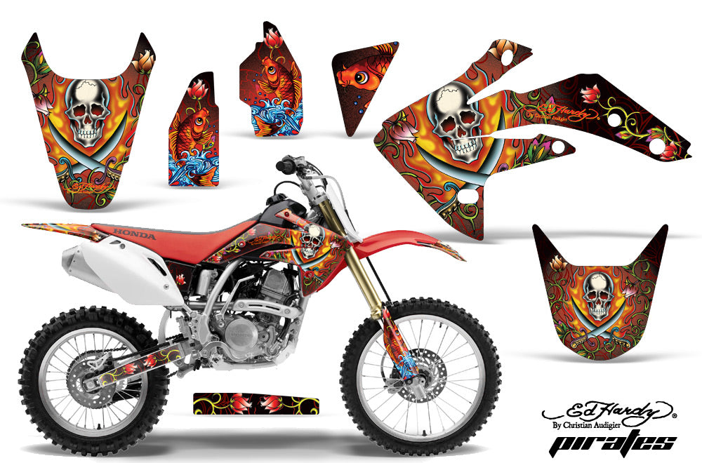 Dirt Bike Graphics Kit Decal Sticker Wrap For Honda CRF150R 2007-2016 EDHP RED-atv motorcycle utv parts accessories gear helmets jackets gloves pantsAll Terrain Depot
