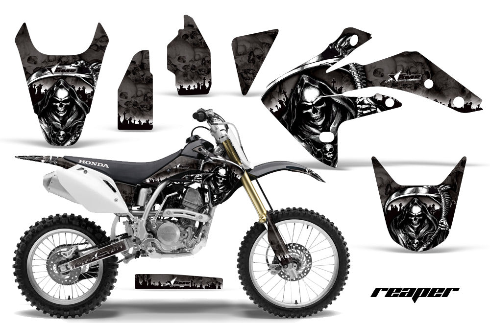 Dirt Bike Graphics Kit Decal Sticker Wrap For Honda CRF150R 2007-2016 REAPER BLACK-atv motorcycle utv parts accessories gear helmets jackets gloves pantsAll Terrain Depot