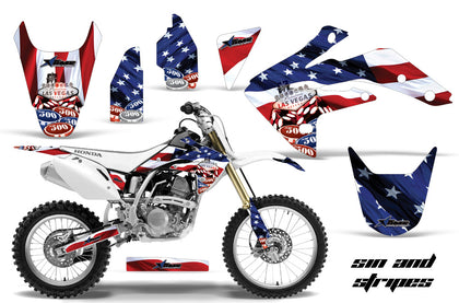 Dirt Bike Graphics Kit Decal Sticker Wrap For Honda CRF150R 2007-2016 USA SINS
