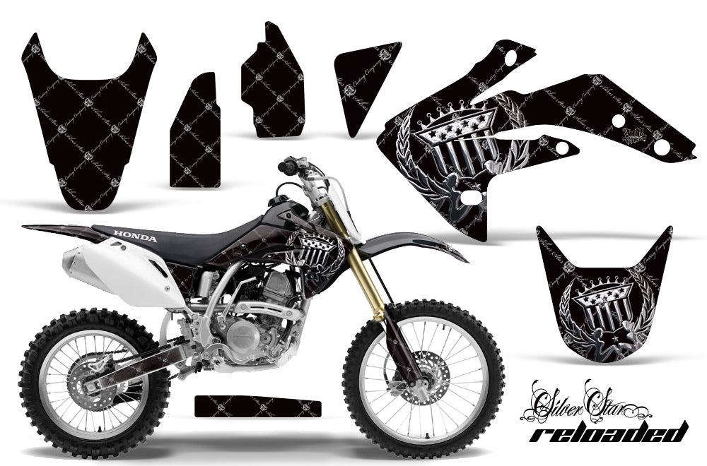Dirt Bike Graphics Kit Decal Sticker Wrap For Honda CRF150R 2007-2016 RELOADED CHROME BLACK-atv motorcycle utv parts accessories gear helmets jackets gloves pantsAll Terrain Depot