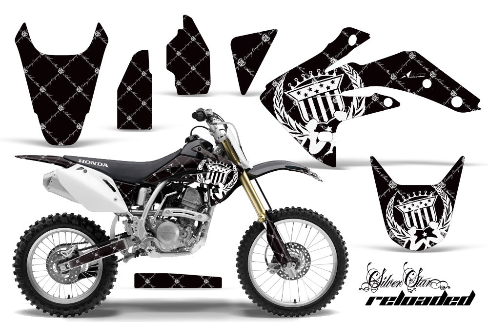Dirt Bike Graphics Kit Decal Sticker Wrap For Honda CRF150R 2007-2016 RELOADED WHITE BLACK-atv motorcycle utv parts accessories gear helmets jackets gloves pantsAll Terrain Depot