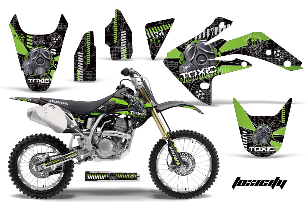 Dirt Bike Graphics Kit Decal Sticker Wrap For Honda CRF150R 2007-2016 TOXIC GREEN BLACK-atv motorcycle utv parts accessories gear helmets jackets gloves pantsAll Terrain Depot
