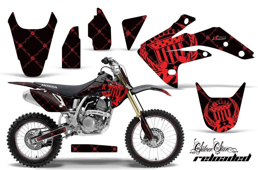 Graphics Kit Decal Sticker Wrap + # Plates For Honda CRF150R 2007-2016 RELOADED RED BLACK-atv motorcycle utv parts accessories gear helmets jackets gloves pantsAll Terrain Depot