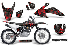Load image into Gallery viewer, Dirt Bike Graphics Kit Decal Wrap For Honda CRF150 CRF230F 2008-2014 BUTTERFLIES RED BLACK-atv motorcycle utv parts accessories gear helmets jackets gloves pantsAll Terrain Depot