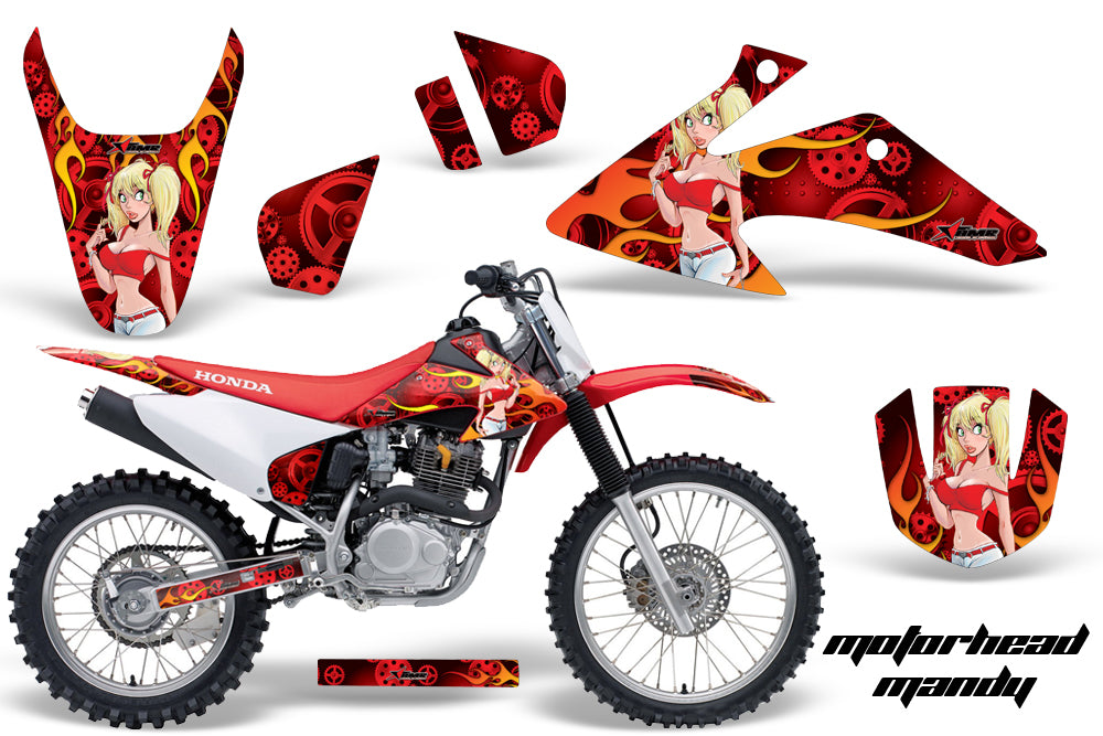Dirt Bike Graphics Kit Decal Wrap For Honda CRF150 CRF230F 2008-2014 MOTO MANDY RED-atv motorcycle utv parts accessories gear helmets jackets gloves pantsAll Terrain Depot