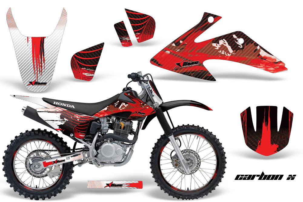 Graphics Kit Decal Wrap + # Plates For Honda CRF150 CRF230F 2008-2014 CARBONX RED-atv motorcycle utv parts accessories gear helmets jackets gloves pantsAll Terrain Depot