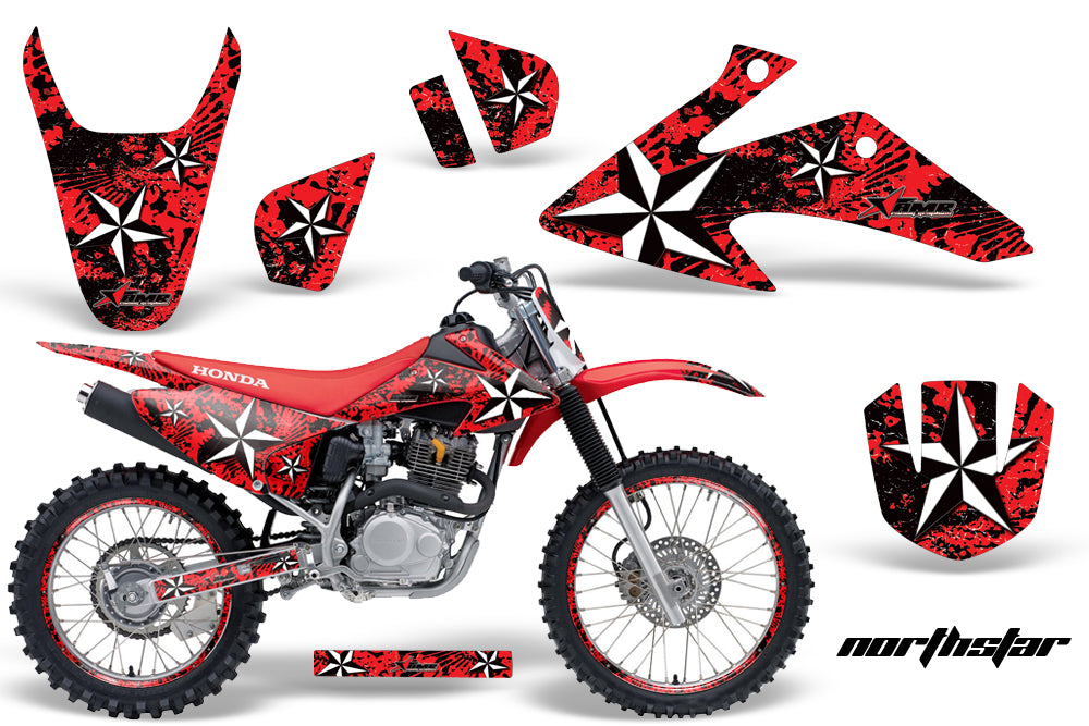 Graphics Kit Decal Wrap + # Plates For Honda CRF150 CRF230F 2008-2014 NORTHSTAR RED-atv motorcycle utv parts accessories gear helmets jackets gloves pantsAll Terrain Depot
