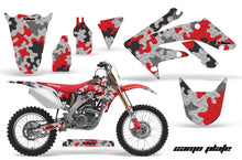 Load image into Gallery viewer, Dirt Bike Graphics Kit Decal Sticker Wrap For Honda CRF250R 2004-2009 CAMOPLATE RED-atv motorcycle utv parts accessories gear helmets jackets gloves pantsAll Terrain Depot