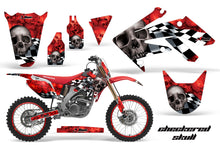 Load image into Gallery viewer, Dirt Bike Graphics Kit Decal Sticker Wrap For Honda CRF250R 2004-2009 CHECKERED SILVER RED-atv motorcycle utv parts accessories gear helmets jackets gloves pantsAll Terrain Depot