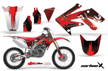 Load image into Gallery viewer, Dirt Bike Graphics Kit Decal Sticker Wrap For Honda CRF250R 2004-2009 CARBONX RED-atv motorcycle utv parts accessories gear helmets jackets gloves pantsAll Terrain Depot