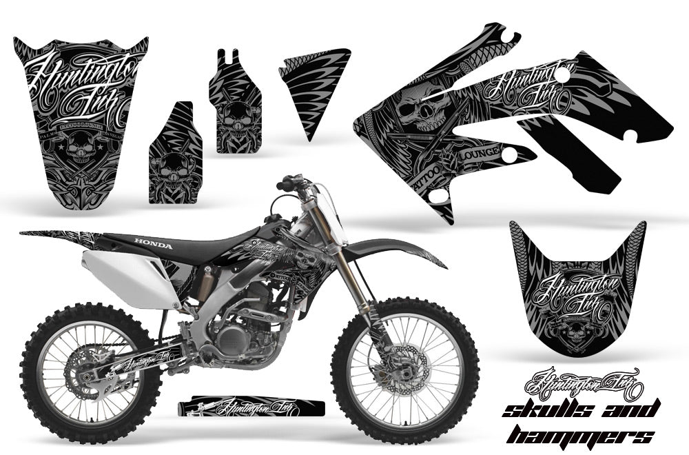 Dirt Bike Graphics Kit Decal Sticker Wrap For Honda CRF250R 2004-2009 HISH SILVER-atv motorcycle utv parts accessories gear helmets jackets gloves pantsAll Terrain Depot