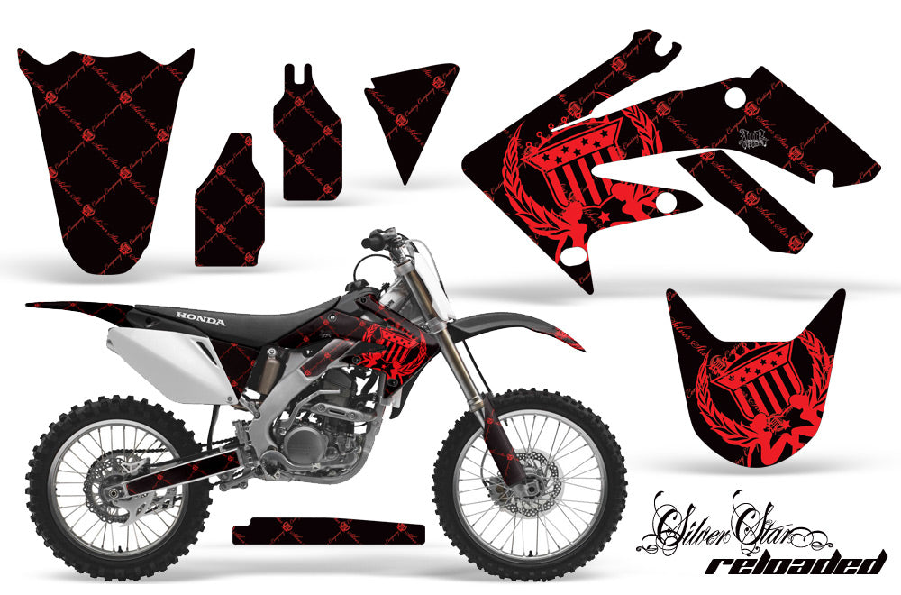 Dirt Bike Graphics Kit Decal Sticker Wrap For Honda CRF250R 2004-2009 RELOADED RED BLACK-atv motorcycle utv parts accessories gear helmets jackets gloves pantsAll Terrain Depot