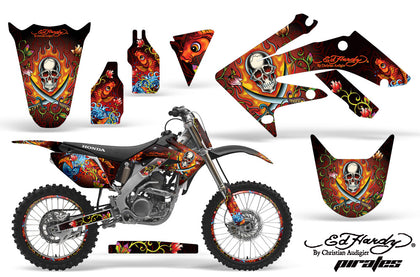 Graphics Kit Decal Sticker Wrap + # Plates For Honda CRF250R 2004-2009 EDHP RED