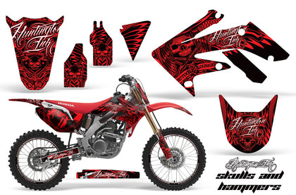 Graphics Kit Decal Sticker Wrap + # Plates For Honda CRF250R 2004-2009 HISH RED