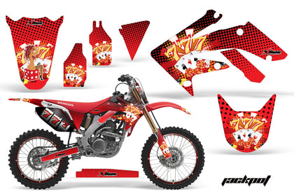 Graphics Kit Decal Sticker Wrap + # Plates For Honda CRF250R 2004-2009 JACKPOT RED