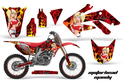 Graphics Kit Decal Sticker Wrap + # Plates For Honda CRF250R 2004-2009 MOTO MANDY RED