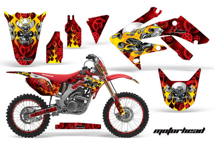 Graphics Kit Decal Sticker Wrap + # Plates For Honda CRF250R 2004-2009 MOTORHEAD RED