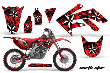 Graphics Kit Decal Sticker Wrap + # Plates For Honda CRF250R 2004-2009 NORTHSTAR RED