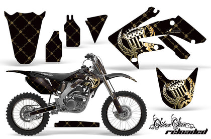Graphics Kit Decal Sticker Wrap + # Plates For Honda CRF250R 2004-2009 RELOADED GREEN BLACK