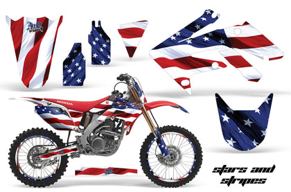 Graphics Kit Decal Sticker Wrap + # Plates For Honda CRF250R 2004-2009 USA FLAG
