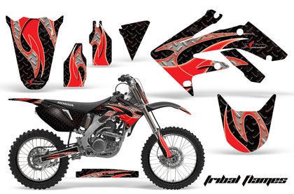Graphics Kit Decal Sticker Wrap + # Plates For Honda CRF250R 2004-2009 TRIBAL RED BLACK