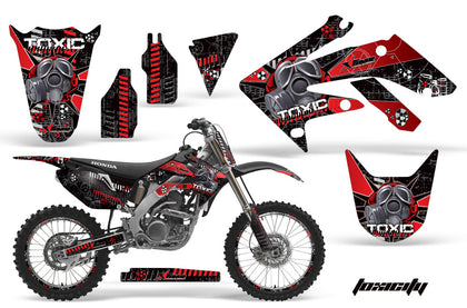 Graphics Kit Decal Sticker Wrap + # Plates For Honda CRF250R 2004-2009 TOXIC RED BLACK