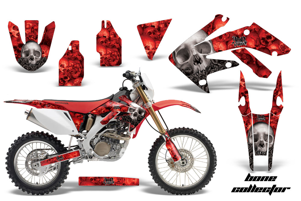 Dirt Bike Decal Graphics Kit MX Sticker Wrap For Honda CRF250X 2004-2017 BONES RED-atv motorcycle utv parts accessories gear helmets jackets gloves pantsAll Terrain Depot