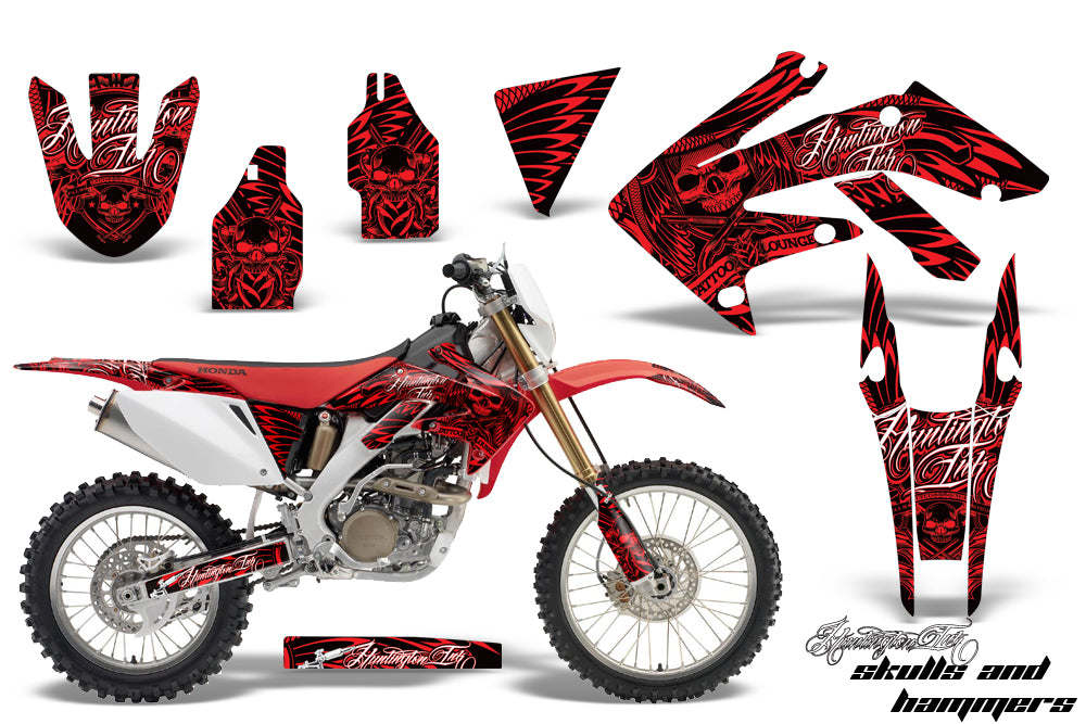Dirt Bike Decal Graphics Kit MX Sticker Wrap For Honda CRF250X 2004-2017 HISH RED-atv motorcycle utv parts accessories gear helmets jackets gloves pantsAll Terrain Depot